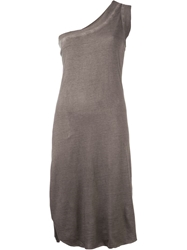 Barbara I Gongini One Shoulder Tank Grey