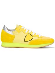 Philippe Model Neon Sole Trainers Yellow Orange