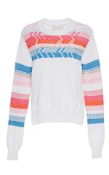 Peter Pilotto Peruvian Knit Jumper White