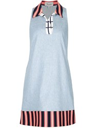 Novis Sleeveless Polo Dress Blue
