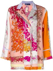 Emilio Pucci Fringed Floral Shirt Pink And Purple