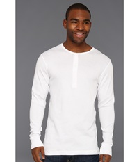 2Xist Essentials L S Henley White Men's T Shirt