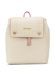 Love Moschino Rounded Stud Backpack Neutrals