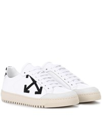 Off White Leather Sneakers White