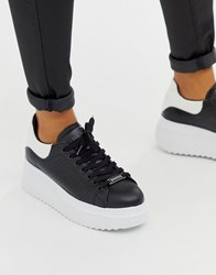 Bronx Leather Chunky Trainers Black