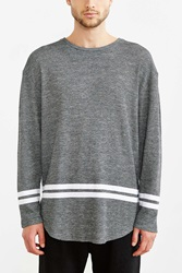 The Narrows Thermal Stripe Tee Dark Grey