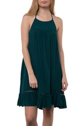 O'neill Jenelle Halter Dress Deep Teal