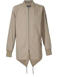 Zanerobe Pointed Hem Bomber Jacket Nude And Neutrals