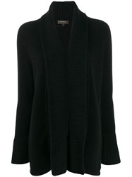 N.Peal Open Front Cardigan Black