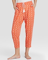 Kensie Just Cruise Coral Kick Flower Crop Pants