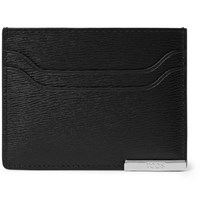 Tod's Textured Leather Cardholder Black