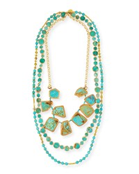 Devon Leigh Copper Infused Turquoise Multi Strand Necklace