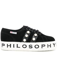 Philosophy Di Lorenzo Serafini Superga X Sneakers Black