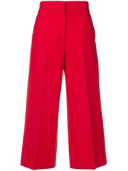 Msgm Cropped Wide Leg Tailored Trousers