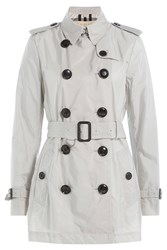 Burberry Brit Fabric Trench Coat Grey