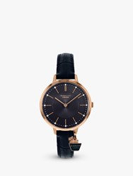 Radley Ry2798 'S St Duncans Crystal Leather Strap Band Navy