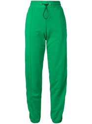 Msgm Brand Stripe Track Trousers Green