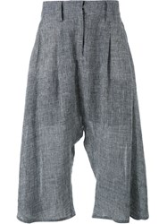 Fad Three Cropped Tweed Trousers Grey