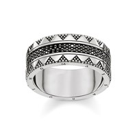 Thomas Sabo Nile Trasures Black Zirconia Chunky Ring Black