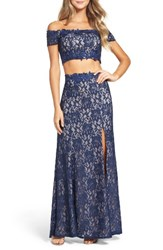 Sequin Hearts Women's Two Piece Gown