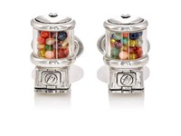 Jan Leslie Men's Gumball Machine Cufflinks Silver