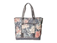 Sakroots New Adventure Finch Large Tote Charcoal Flower Power Tote Handbags Multi