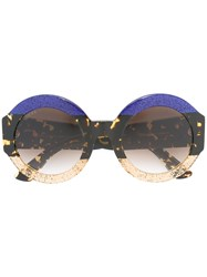 Gucci Eyewear Oversized Round Frame Sunglasses Brown