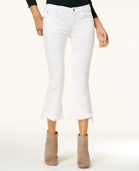 Dollhouse Juniors' Cropped Kick Flare Jeans White