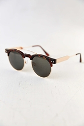 Spitfire Surf Rock Clubmaster Sunglasses Brown