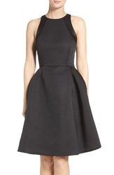 Halston Women's Heritage Pleated Fit And Flare Dress