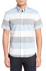 Jack Spade Men's Trim Fit Wide Stripe Oxford Sport Shirt