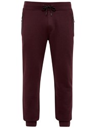 Ted Baker Clube Jersey Cuffed Jogging Bottoms Dark Red