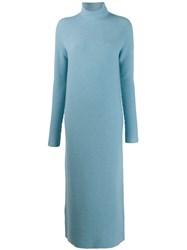 Christian Wijnants Kova Long Roll Neck Dress Blue