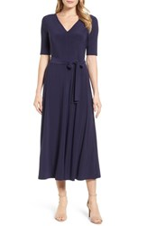 Chaus 'S Lisa Tie Waist Dress 529 Evening Navy