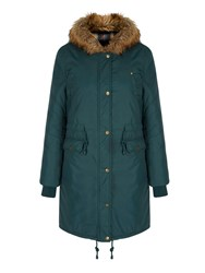 Yumi Faux Fur Hood Parka Jacket Green
