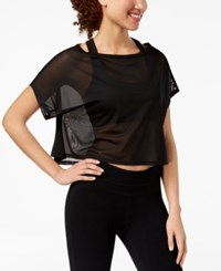 Material Girl Juniors' Printed Active Top Black