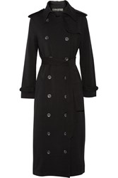 Norma Kamali Cotton Blend Trench Coat Black
