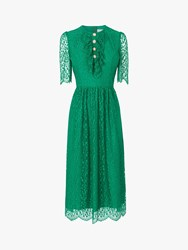 Lk Bennett L.K.Bennett Mallory Lace Bow Tea Dress Fern Green