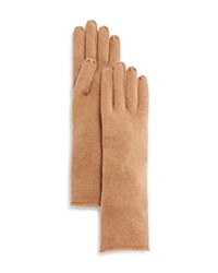 Bloomingdale's C By Cashmere Angelina Gloves Camel