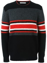 Givenchy Colour Block Striped Jumper Black