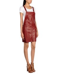 Aniye By Overall Skirts Brick Red
