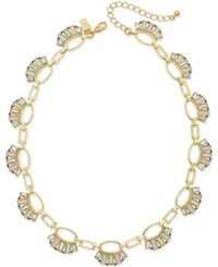 Kate Spade New York Gold Tone Baguette Crystal Collar Necklace