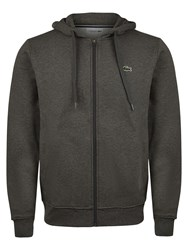 Lacoste Hooded Fleece Sweatshirt Grey