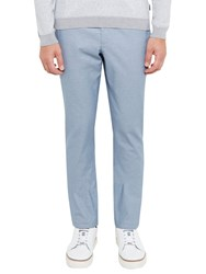 Ted Baker Clasmor Oxford Stretch Cotton Chinos Light Blue