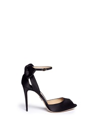 Paul Andrew 'Fatales' Bow Back Satin Peep Toe Pumps Black