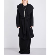 Drkshdw Longline Cotton Coat Black