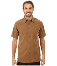 Royal Robbins Mojave Desert Pucker S S Walnut Men's Short Sleeve Button Up Brown