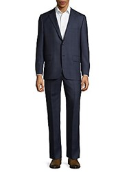 Hickey Freeman Milburn Series Wool Suit Blue