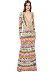 Missoni Zigzag Viscose And Lame Knit Dress