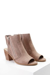 Forever 21 Laser Cut Cutout Ankle Boots